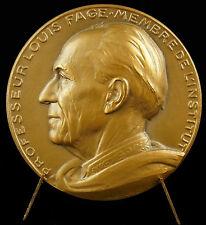 Medaille à Louis Fage biologiste marin spéléologue & arachnologiste 1963 medal
