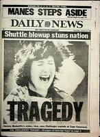 Daily News NY January 29 1986 Challenger Shutter Explosion Newspaper 061620DBE