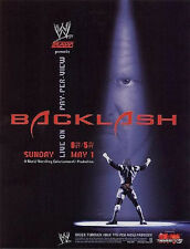 WWE BACKLASH 2005 PPV POSTER TRIPLE H, FREE SHIPPING! ROLLED NEVER FOLDED HHH