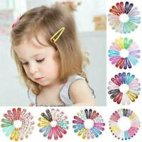 30Pcs Fashion Wholesale Bulk Girls Baby Kids Snap Hair Clip Slides Close Hairpin