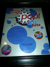 Erasure Pop 20 Hits Rare Original Promo Poster Ad Framed!