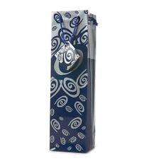 Wine Or Champagne Gift Bag - Blue & Silver Swirls