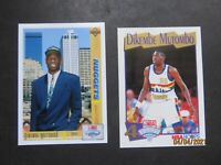 DIKEMBE MUTOMBO ROOKIE CARDS-UPPER DECK AND NBAHOOPS...2 CARDS...