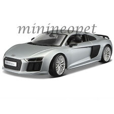 MAISTO 36213 AUDI R8 V10 PLUS 1/18 DIECAST MODEL CAR SILVER