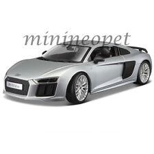 MAISTO 36213 AUDI R8 V10 PLUS 1/18 DIECAST MODEL CAR SILVER