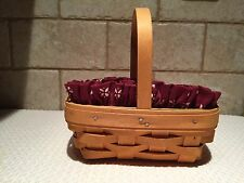 Longaberger 1999 Parsley Booking Basket Combo New/Mint/Reduced Again