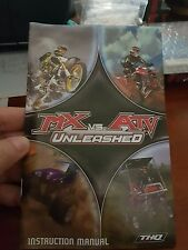 BOOKLET/MANUAL ONLY FOR MX VS ATV UNLEASHED PS2 (NO GAME)-  FREE POST