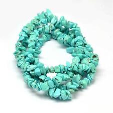 100 perles chips en  turquoise  gemme naturel  5-8 mm