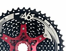Sunrace MX8 Mega Wide Range 11-46T Mountain Bike Cassette Black NIB