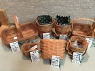 Longaberger Lot Of Baskets Signed By Dave Longaberger & Tami & More Made in USA