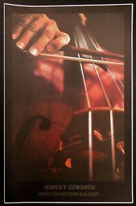 Harvey Edwards Vintage Art Show Poster 1982 Print Collectors Gallery violin OBO