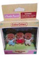 Calico Critters Sylvanian Families Chocolate Labrador Triplets Baby Set Dog