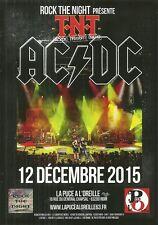 FLYER PLV - T.N.T ( AC/DC TRIBUTE BAND SHOW ) EN CONCERT LIVE 2015 RIOM AUVERGNE