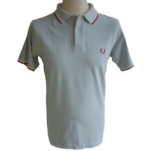 Fred Perry Polo Shirt Made In England Vintage 1960s Cotton UK Size Small