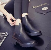 Fashion Women's Winter Ankle Boots Low Heels Boots Autumn Winter Boots Shoes