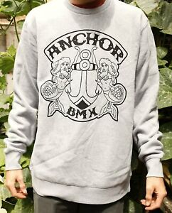 The Anchor Shield Crew Jumper Grey