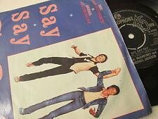 "Paul McCartney & Michael Jackson-Say Say Say-R 6062-Vinyl-7""-Single-Record-1980s"