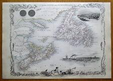 More details for nova scotia, newfoundland, canada, rapkin & tallis original antique map c1850