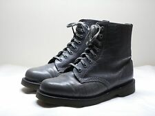 Women's DR. MARTENS Pascal Air Wair Gray Leather Croc Ankle Boots Size UK 7 US 9