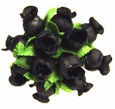 144 Miniature   Poly Rose Silk Favor Flower Pick Wedding Shower - Black