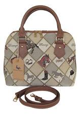 Tapestry Equestrian Sport Horse design Handbag or Shoulder Bag