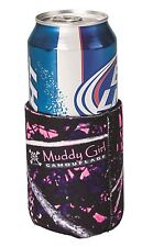 Muddy Girl Camo Can Coozie Koozie Cooler, Moonshine Pink Purple Camouflage
