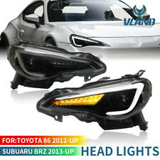 LED DRL Projector Sequential Head Lights For 2012-UP Toyota 86 GT / SUBARU BRZ