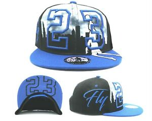 Chicago New Greatest 23 City MJ Jordan Bulls Black Blue Era Snapback Hat Cap