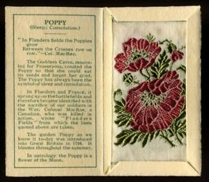 Kensitas Woven Silk Flowers, 1934, Small, 1st Series, Folder Type C, POPPY, #45