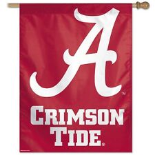 "ALABAMA CRIMSON TIDE ""A"" 27""X37"" RED BANNER FLAG BRAND NEW WINCRAFT"