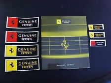 Ferrari Style Elements Brochure_Genuine Stickers Decals_Sales Pamphlet 360 OEM