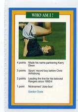 (Jj181-100) RARE Trade Card Premier of Gordon Durie ,Footballer 1997 MINT