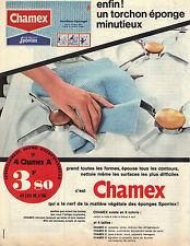 PUBLICITE ADVERTISING  1964   CHAMEX  torchon éponge