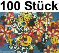 100x PIN CLIPS STICKER für CLOGS CROCS BLUME SMILIE DELFIN ANSTECKER Totenkopf