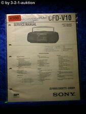 Sony Service Manual CFD V10 Cassette Corder (#4300)