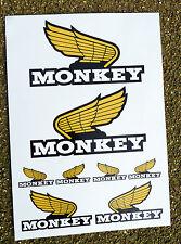 Monkey Bike 'Wing' style Motor Bike Decal Stickers set