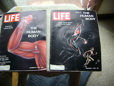 Two 1962 Life Magazines - First two parts of Human Body series
