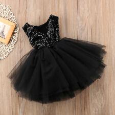 Sequins Kids Baby Flower Girl Dress Tutu Party Dress Wedding Bridesmaid Dresses