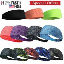 Women Men Gym Stretch Headband Sport Sweat Sweatband Yoga Hair Head Band 3-Types