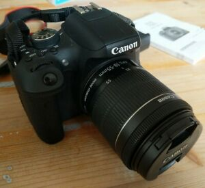 Canon EOS 750D Digital SLR Camera, Manual, Battery, 18-55mm Kit Lens