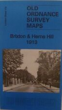 Old Ordnance Survey Map Brixton & Herne Hill near Camberwell London 1913 S116