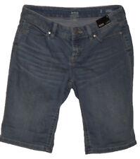 a.n.a. Washed Medium Blue Jean Bermuda Shorts NWT Women's Size 2