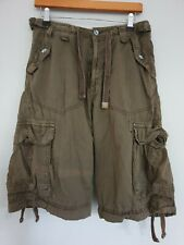 Soulcal & Co Mens Shorts Cargo Combat Brown Size 30