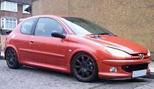 Peugeot 206 Lèvre Lame Inférieure Spoiler Pare-Choc Avant Noir Mat GT 1998-2007