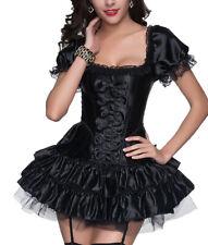 sexy Mini Kleid kurz schwarz Corsage + Rock Partykleid Korsett Pett Vakuumbeutel