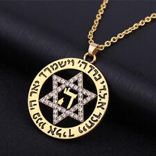 Vintage Star of David Symbol Pendant Israel Wicca Amulet Necklace Jewish Jewelry