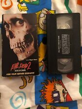 Evil Dead 2 Dead By Dawn Vhs Tape - 1998 Anchor Bay - Horror Tested & Works