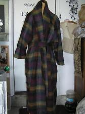 Killarney Ireland Wool Tartan Plaid Mohair? Coat size L Great for Tall Woman