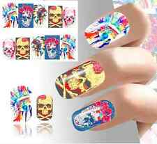 Nail Art Sticker Water Decals Transfer Stickers Halloween Skull Blood (DB187)