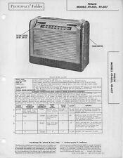 1949 PHILCO 49-605 -607 RADIO SERVICE MANUAL PHOTOFACT SCHEMATIC DIAGRAM REPAIR